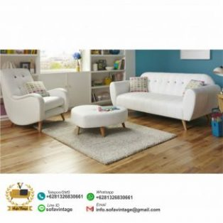 Set Sofa Tamu Retro Minimalis Fortuna