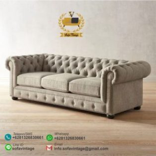 Sofa Tamu Minimalis Chesterfield