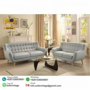 Set Sofa Tamu Model Retro Vintage